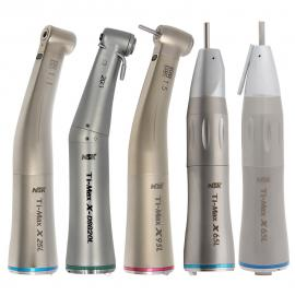 Ti-Max Dental LED Fiber Optic Straight Nose Contra Angle Low Speed Handpiece Electric Motor 1:1/1:5/20:1 X25L/X95L/X-DSG20L/X65L