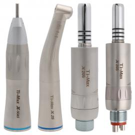 Ti-max Dental Low Speed Handpiece Straight Contra Angle Air Motor 2/4Holes Inner Water Spray Air Turbine
