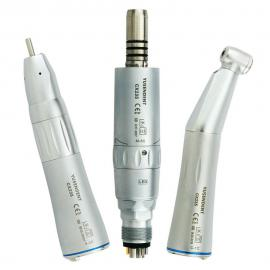 Dental Fibre Optic Low Speed Handpiece Inner Water Spray Straight Nose Contra Anle Air Motor Internal Spray 6 Hole M6 Air Turbine CX235C  COXO YUSENDENT