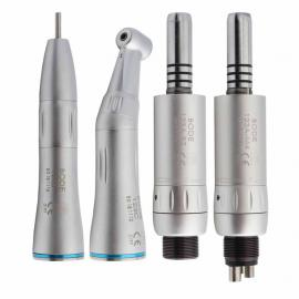 BODE Dental Low Speed Handpiece Straight Nose Contra Angle Air Motor Internal Water Spray Air Turbine 2 Hole 4 Hole