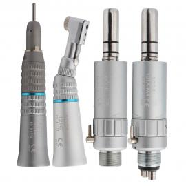BODE Dental Low Speed Handpiece Kit Air Turbine Straight Contra Angle Air Motor 2/4Holes Available